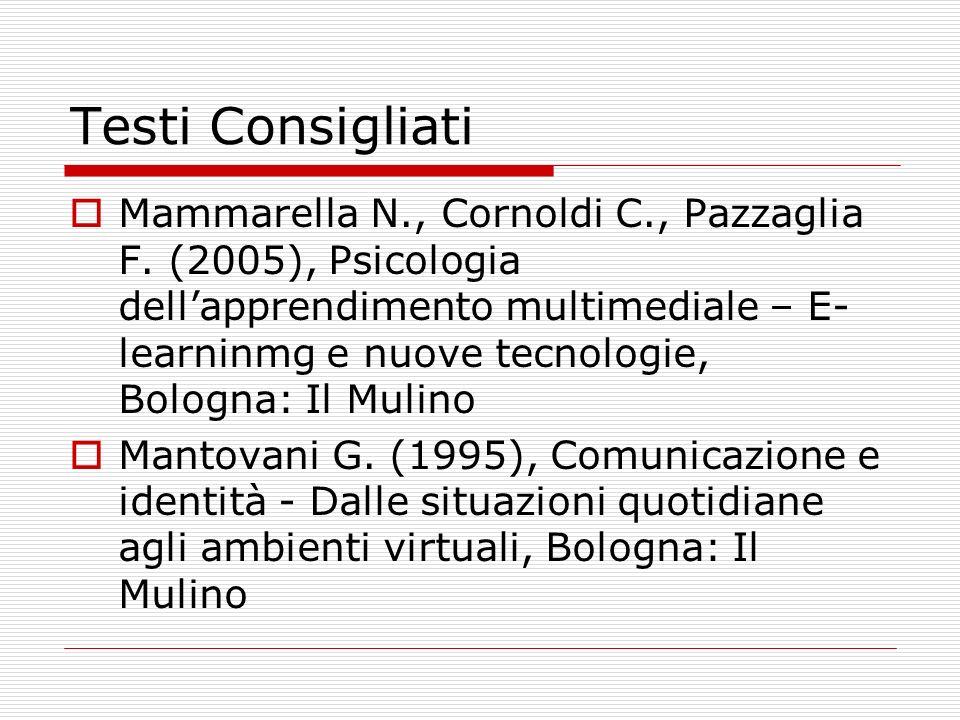 Testi Consigliati Mammarella N., Cornoldi C., Pazzaglia F.