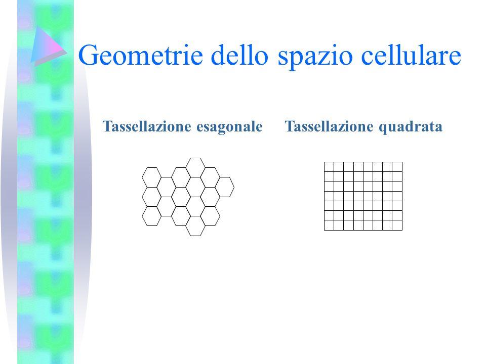 Geometrie dello spazio cellulare Tassellazione esagonaleTassellazione quadrata