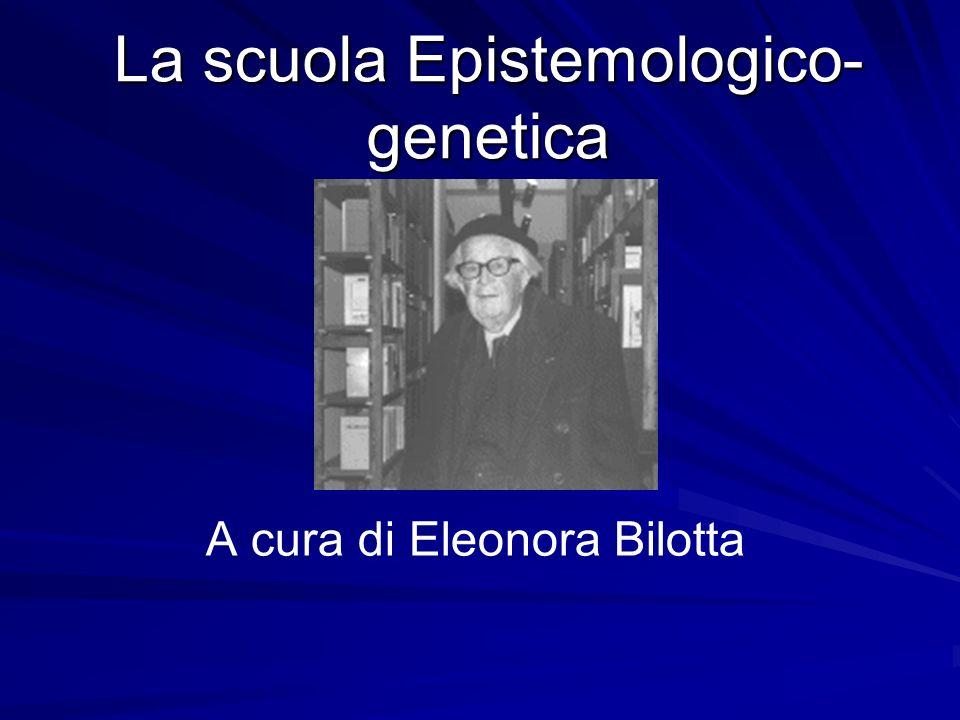 La scuola Epistemologico- genetica A cura di Eleonora Bilotta