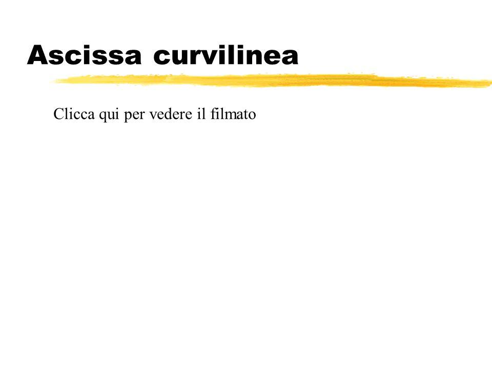 Ascissa curvilinea Clicca qui per vedere il filmato