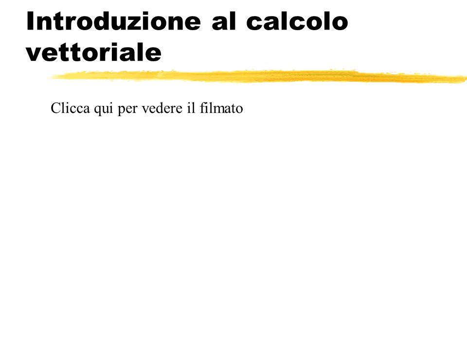 Introduzione al calcolo vettoriale Clicca qui per vedere il filmato