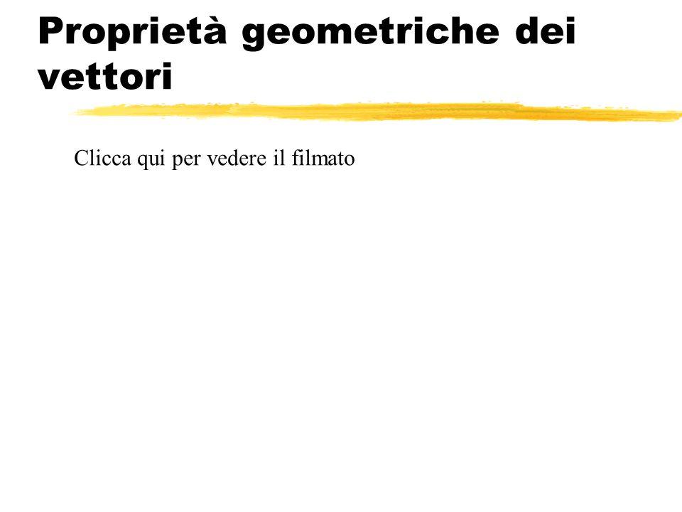 Proprietà geometriche dei vettori Clicca qui per vedere il filmato