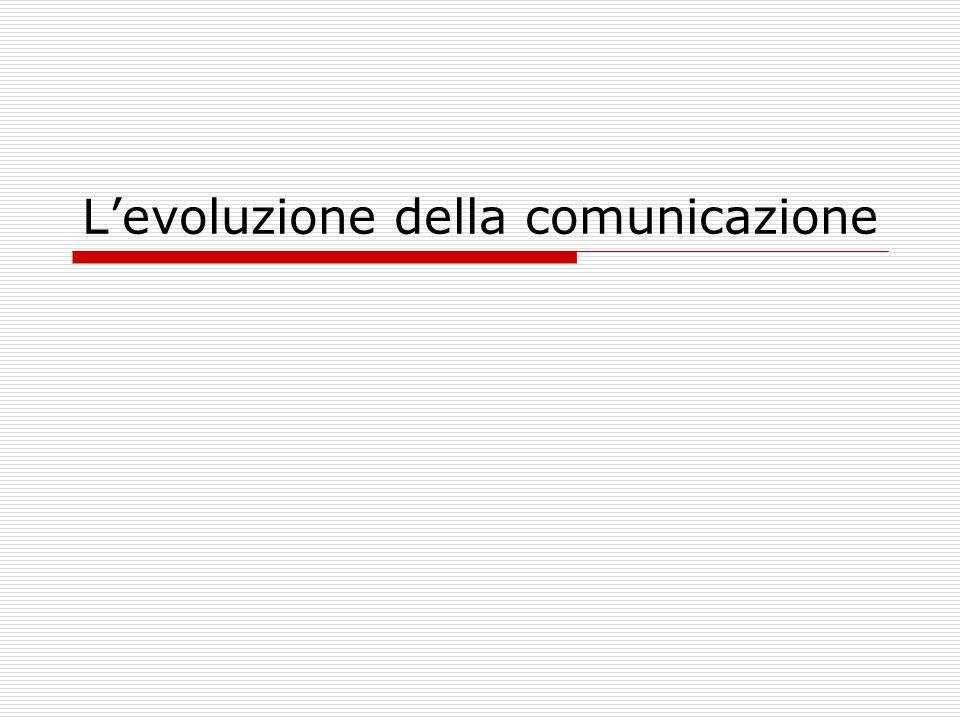 Levoluzione della comunicazione