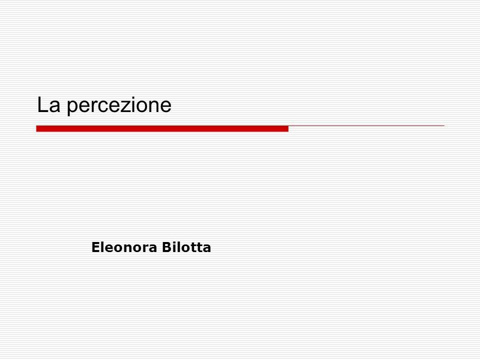 La percezione Eleonora Bilotta