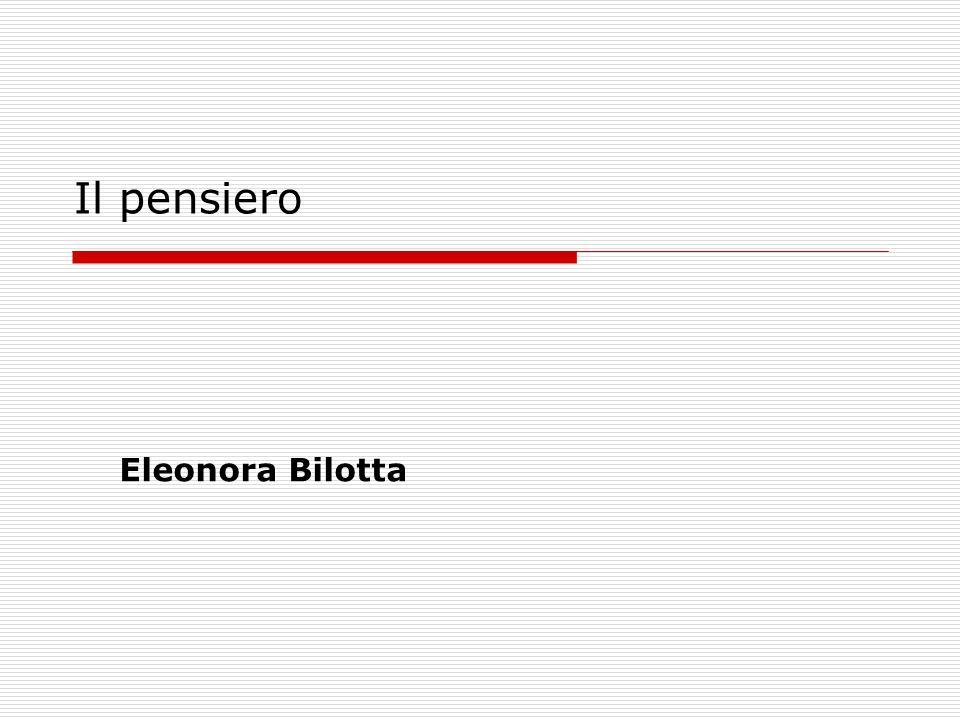 Il pensiero Eleonora Bilotta