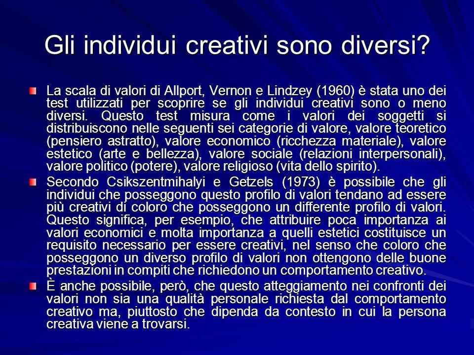 Gli individui creativi sono diversi.