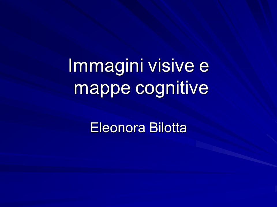 Immagini visive e mappe cognitive Eleonora Bilotta