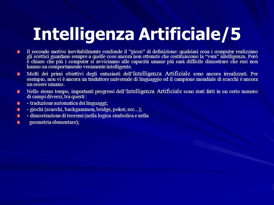 Intelligenza Artificiale/5 Il secondo motivo inevitabilmente confonde il gioco di definizione: qualsiasi cosa i computer realizzano gli scettici guard