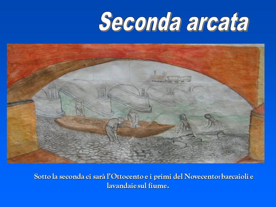 Sotto la seconda ci sarà lOttocento e i primi del Novecento: barcaioli e lavandaie sul fiume.
