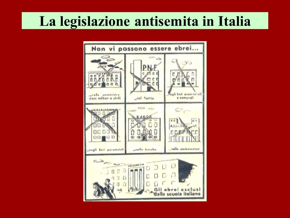 La legislazione antisemita in Italia
