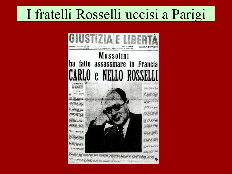 I fratelli Rosselli uccisi a Parigi