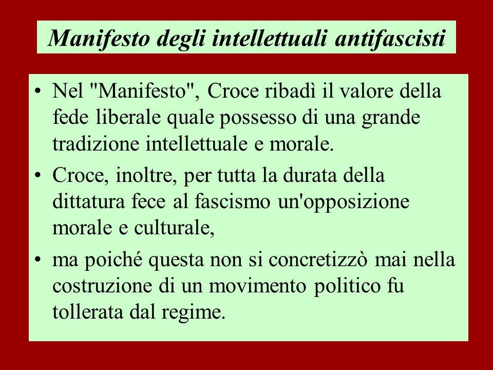 Manifesto degli intellettuali antifascisti Nel