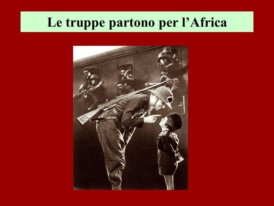 Le truppe partono per lAfrica