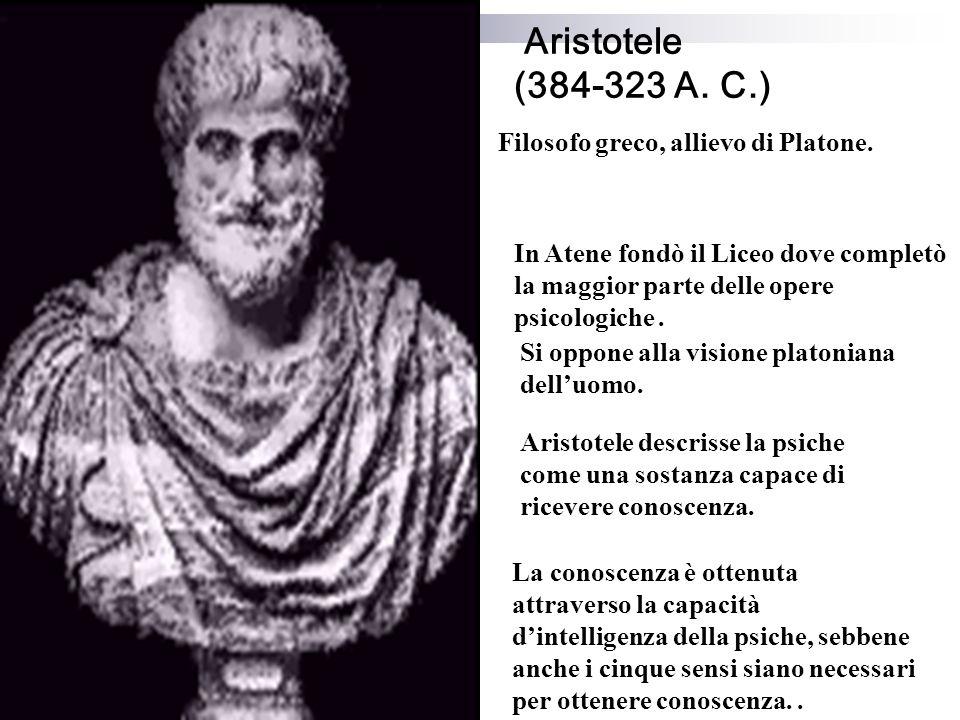 Aristotele (384-323 A.C.) Filosofo greco, allievo di Platone.