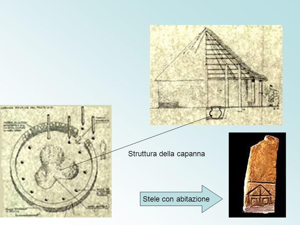 Struttura della capanna Stele con abitazione