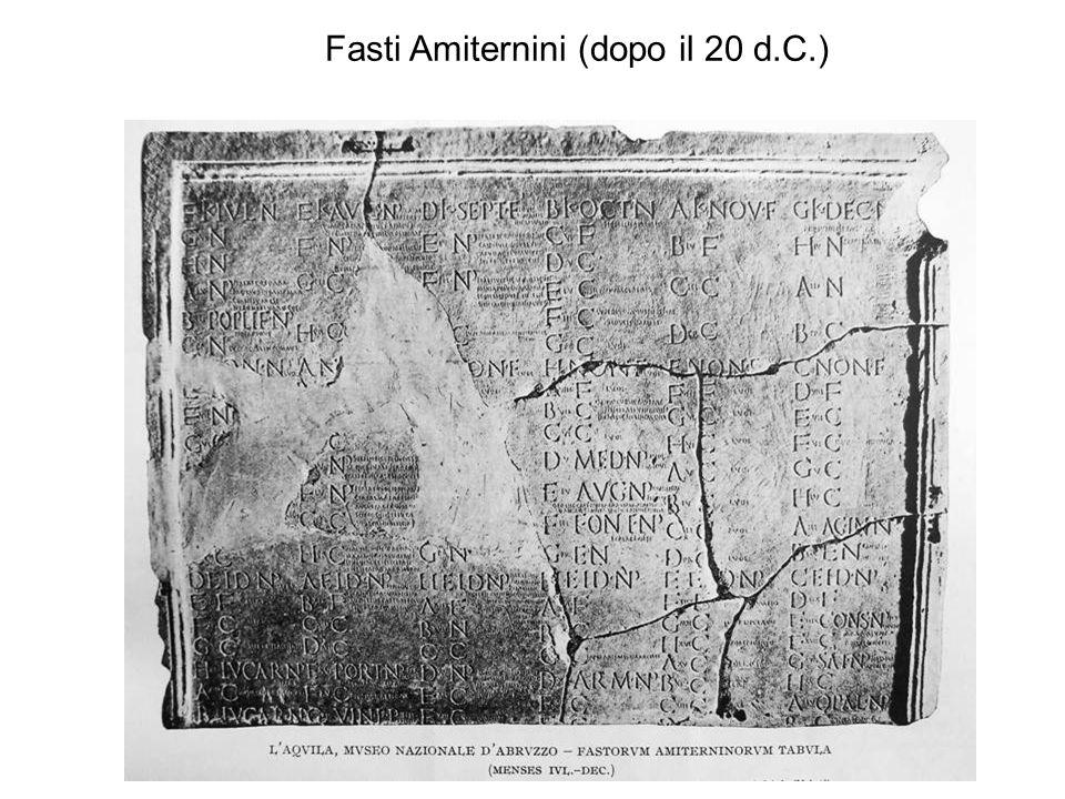 Fasti Amiternini (dopo il 20 d.C.)