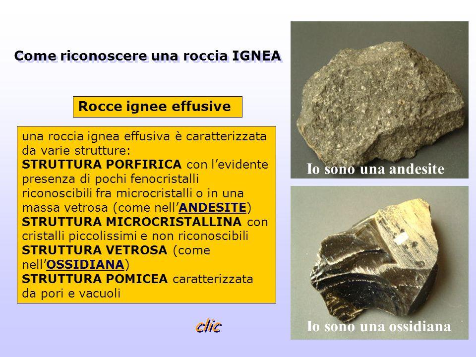 una roccia ignea effusiva è caratterizzata da varie strutture: STRUTTURA PORFIRICA con levidente presenza di pochi fenocristalli riconoscibili fra mic