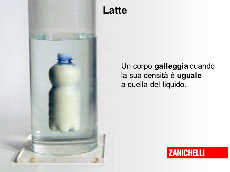 Latte Un corpo galleggia quando la sua densità è uguale a quella del liquido.