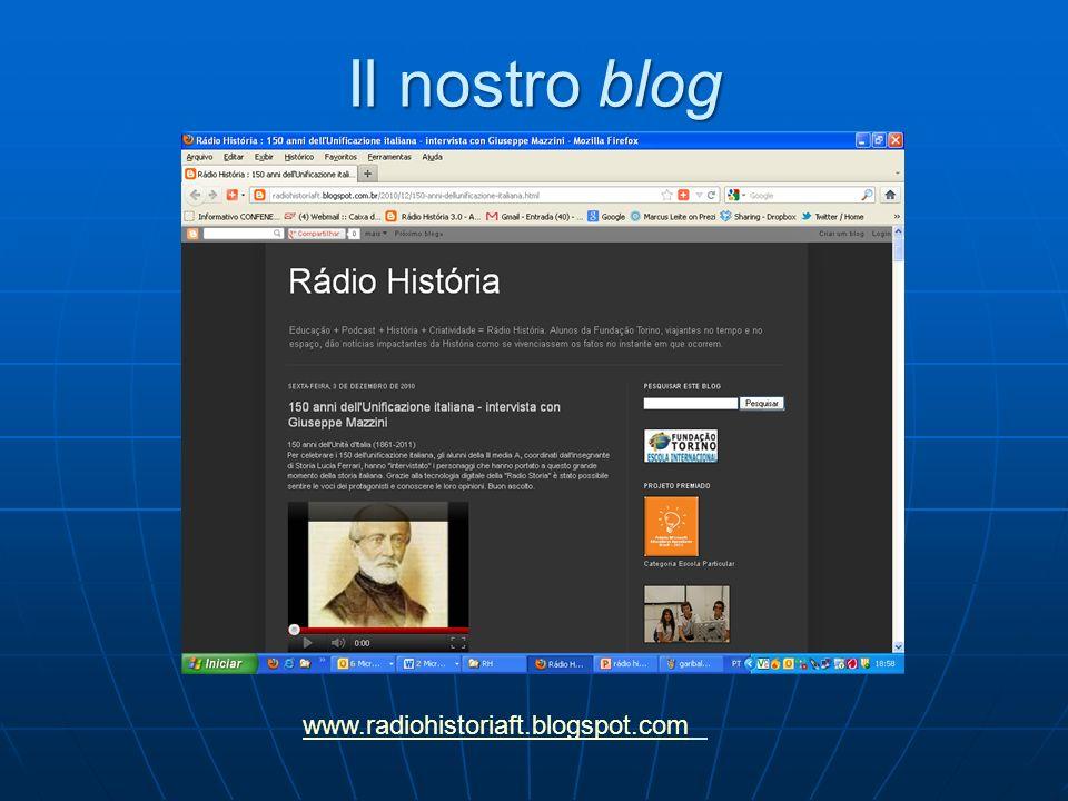 Il nostro blog www.radiohistoriaft.blogspot.com