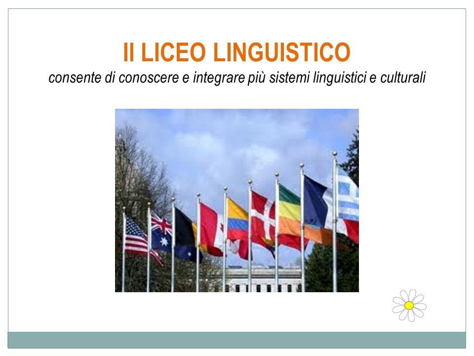 Il LICEO LINGUISTICO consente di conoscere e integrare più sistemi linguistici e culturali