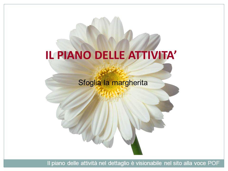IL PIANO DELLE ATTIVITA Sfoglia la margherita Il piano delle attività nel dettaglio è visionabile nel sito alla voce POF