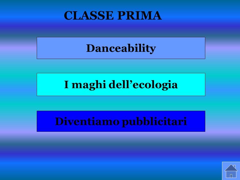CLASSE PRIMA Danceability I maghi dellecologia Diventiamo pubblicitari