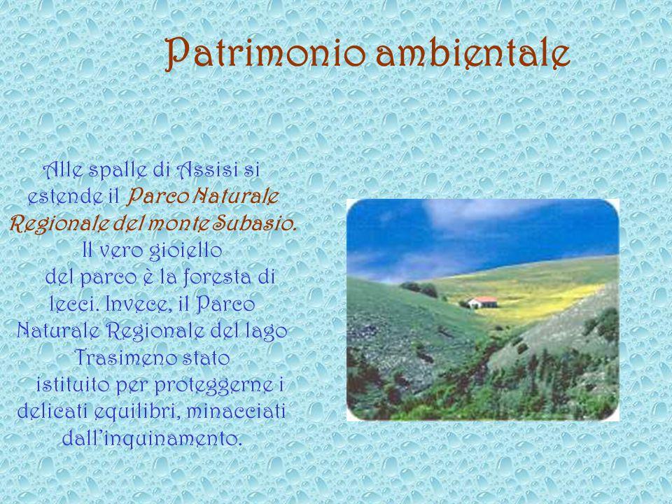 Alle spalle di Assisi si estende il Parco Naturale Regionale del monte Subasio.