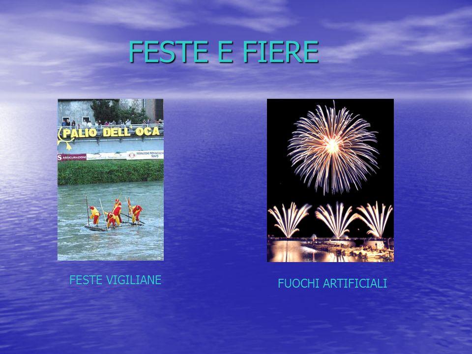 FESTE E FIERE FESTE E FIERE FESTE VIGILIANE FUOCHI ARTIFICIALI