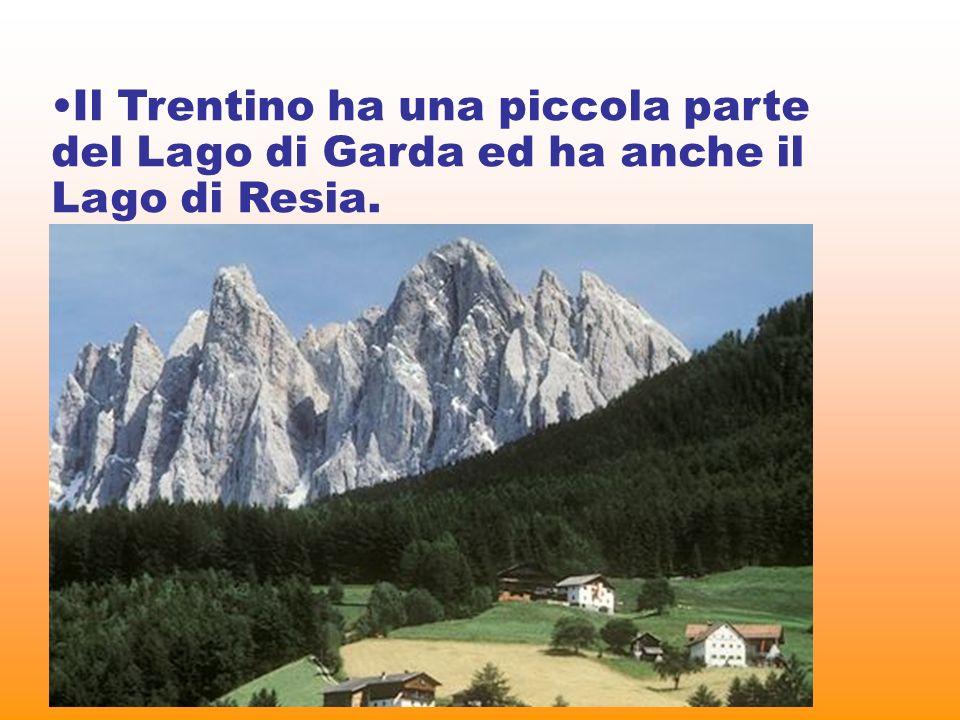 Territorio Il Trentino Alto Adige è la regione più settentrionale dItalia. Il paesaggio alpino è caratterizzato, a ovest, dal massiccio dellOrtles – C