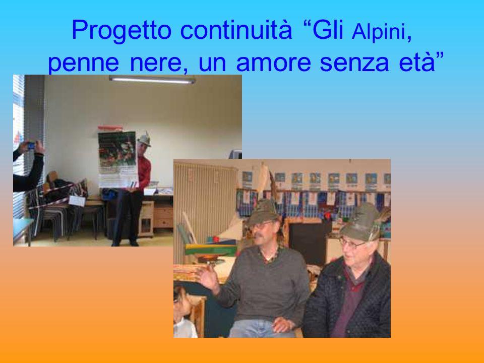 Progetto continuità Gli Alpini, penne nere, un amore senza età