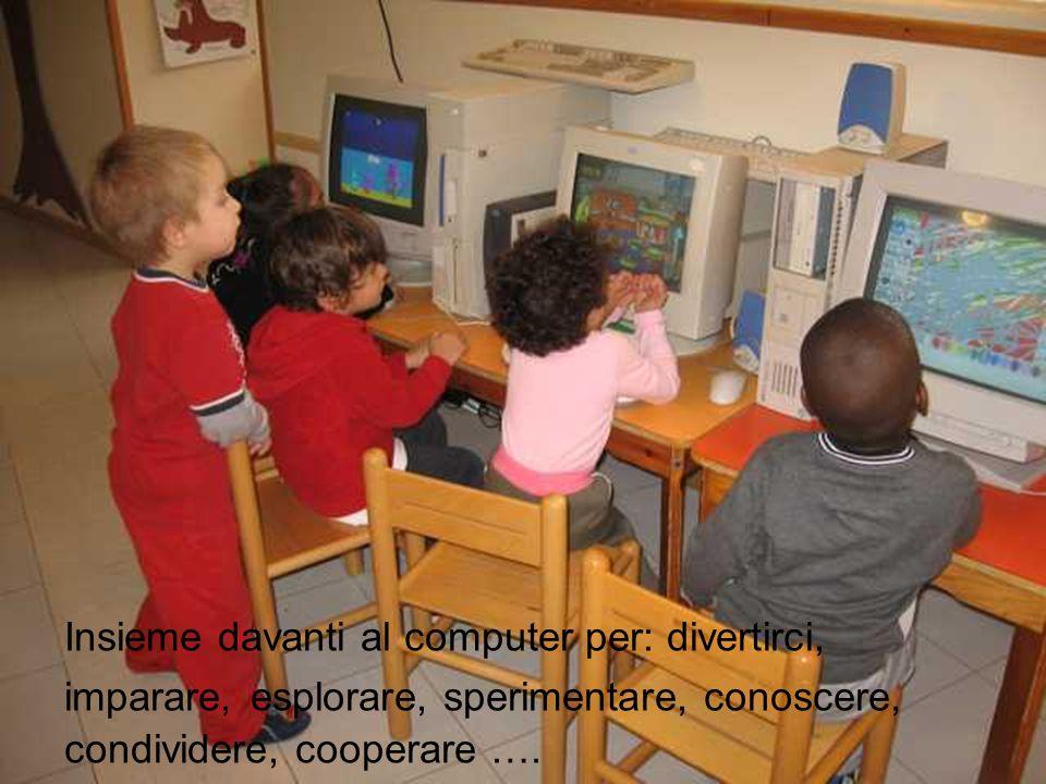 Insieme davanti al computer per: divertirci, imparare, esplorare, sperimentare, conoscere, condividere, cooperare ….