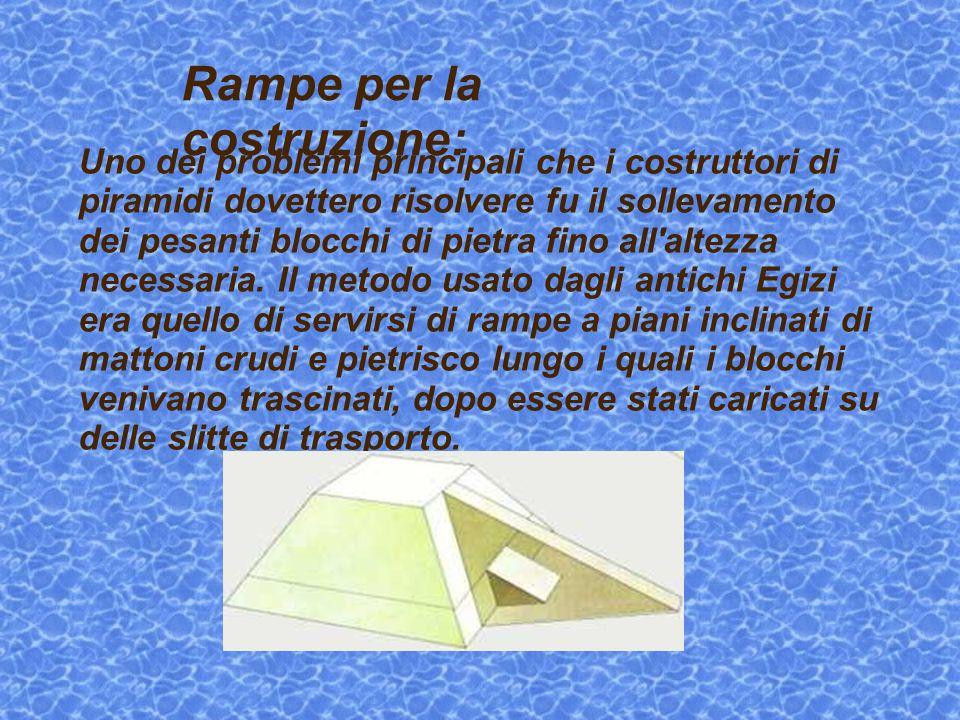 Uno dei problemi principali che i costruttori di piramidi dovettero risolvere fu il sollevamento dei pesanti blocchi di pietra fino all'altezza necess
