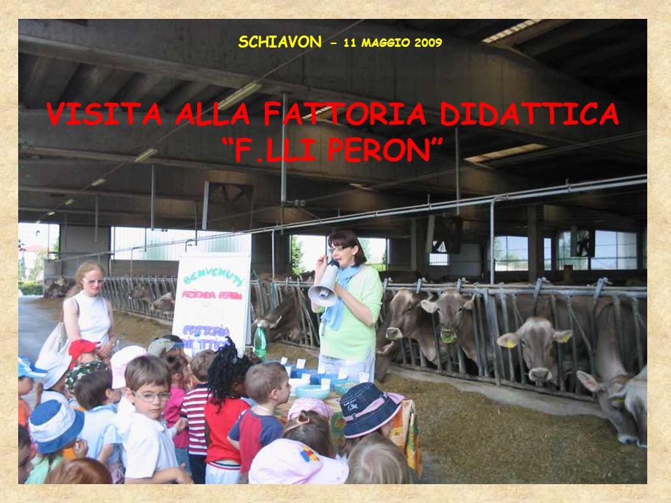 VISITA ALLA FATTORIA DIDATTICA F.LLI PERON SCHIAVON - 11 MAGGIO 2009