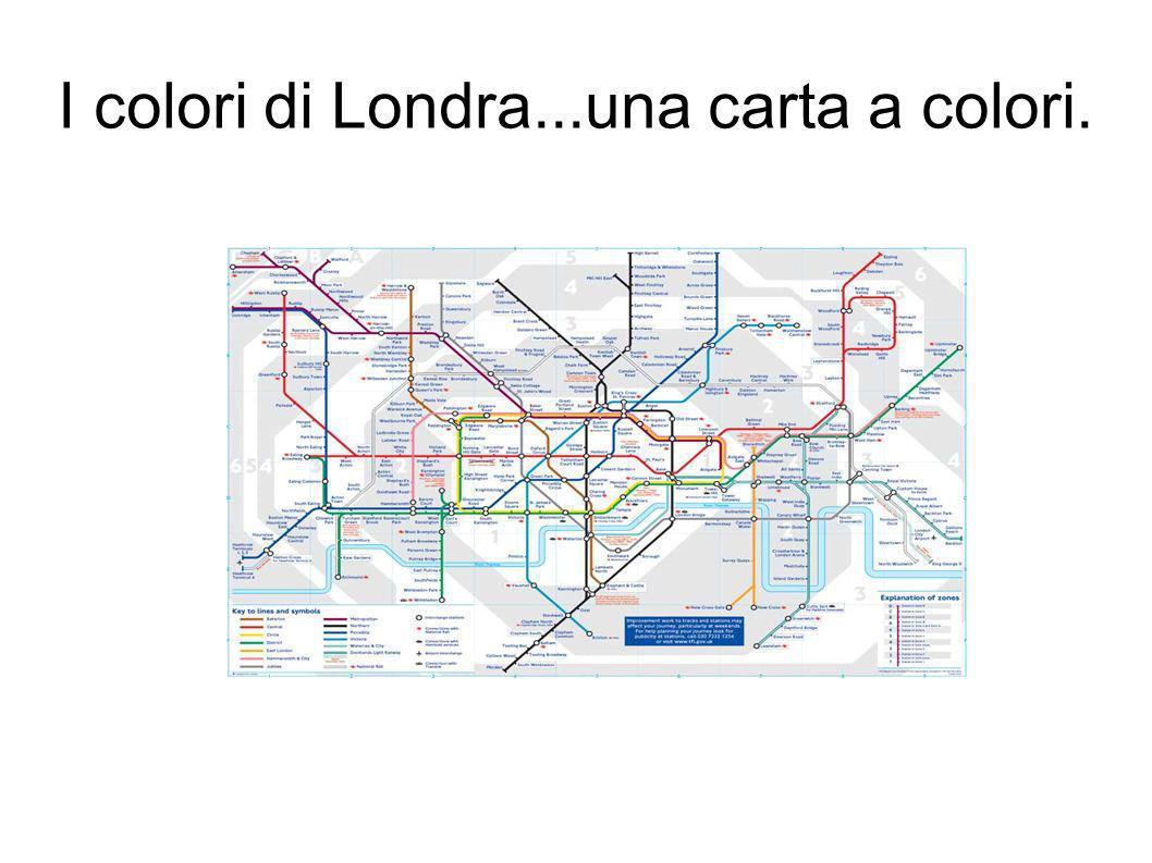 I colori di Londra...una carta a colori.