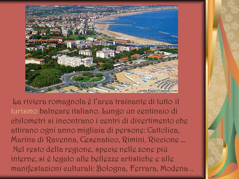 La riviera romagnola è larea trainante di tutto il turismo balneare italiano. Lungo un centinaio di chilometri si incontrano i centri di divertimento