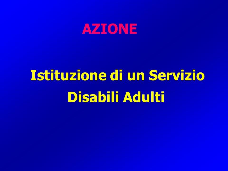 AZIONE Istituzione di un Servizio Disabili Adulti