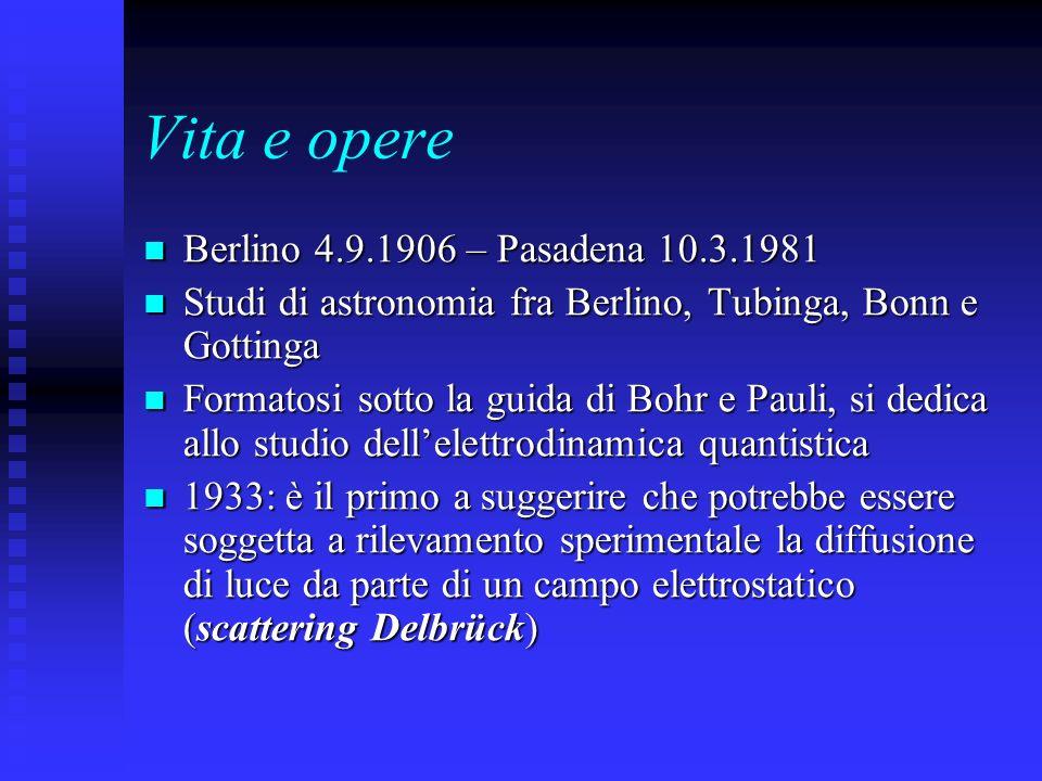 Vita e opere Berlino 4.9.1906 – Pasadena 10.3.1981 Berlino 4.9.1906 – Pasadena 10.3.1981 Studi di astronomia fra Berlino, Tubinga, Bonn e Gottinga Stu