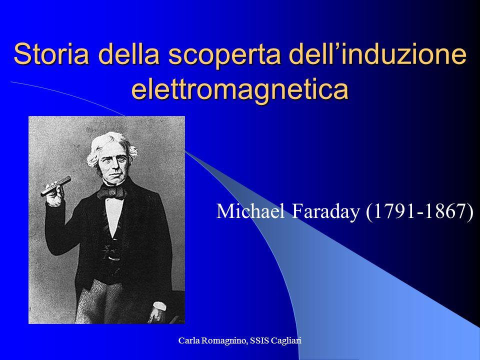 Carla Romagnino, SSIS Cagliari Storia della scoperta dellinduzione elettromagnetica Michael Faraday (1791-1867)
