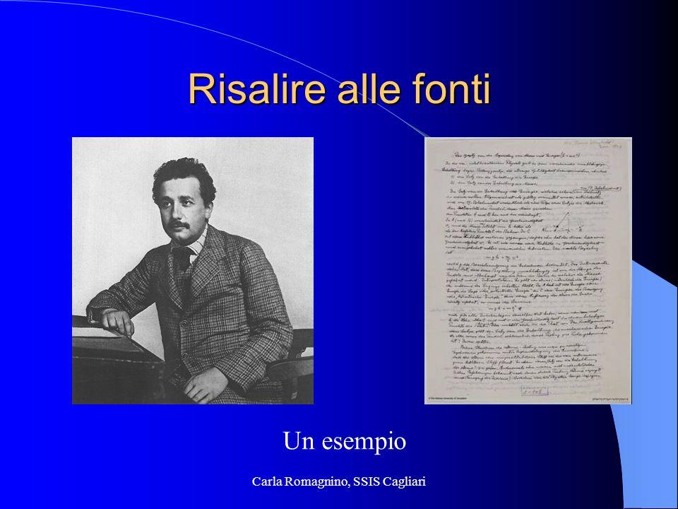 Carla Romagnino, SSIS Cagliari Risalire alle fonti Un esempio