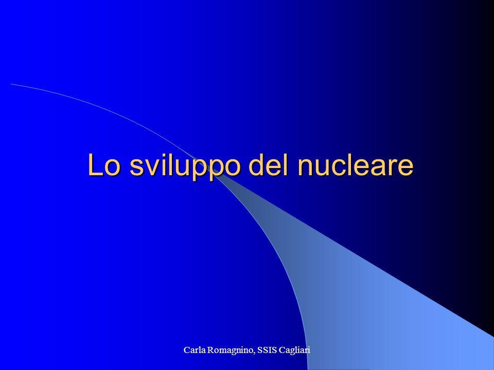 Carla Romagnino, SSIS Cagliari Lo sviluppo del nucleare