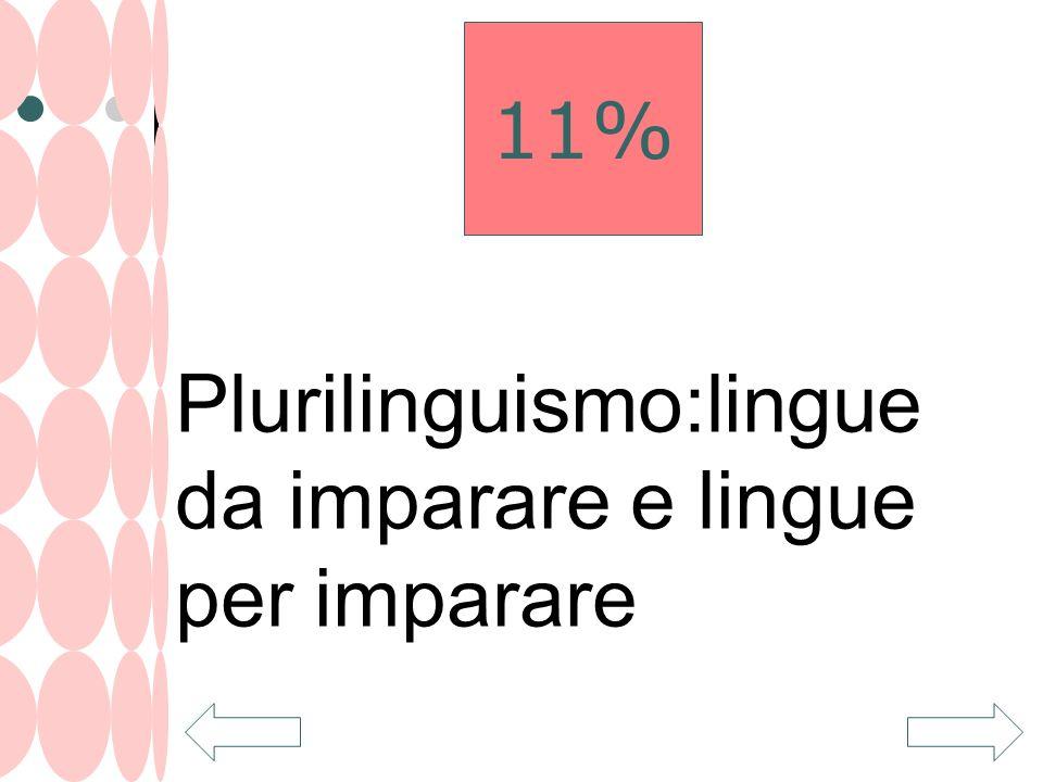 Plurilinguismo:lingue da imparare e lingue per imparare 11%