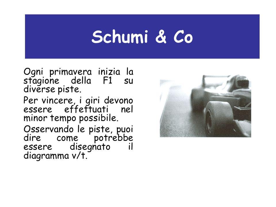 Schumi & Co Ogni primavera inizia la stagione della F1 su diverse piste. Per vincere, i giri devono essere effettuati nel minor tempo possibile. Osser