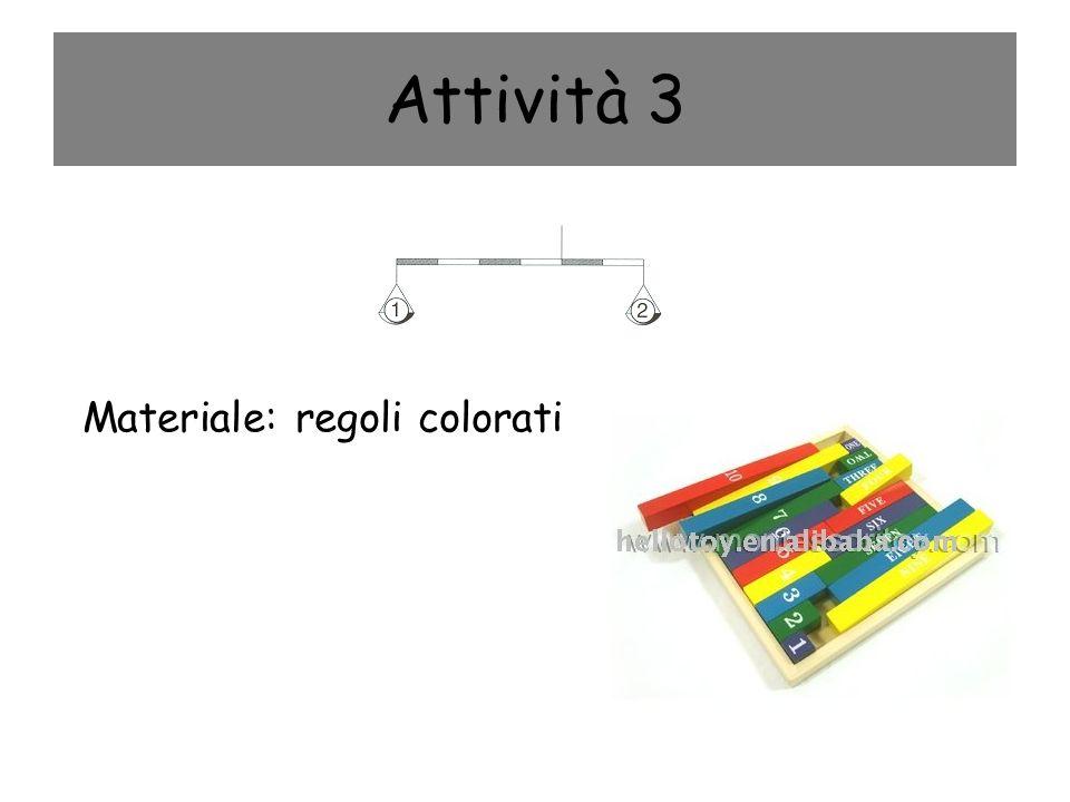 Attività 3 Materiale: regoli colorati