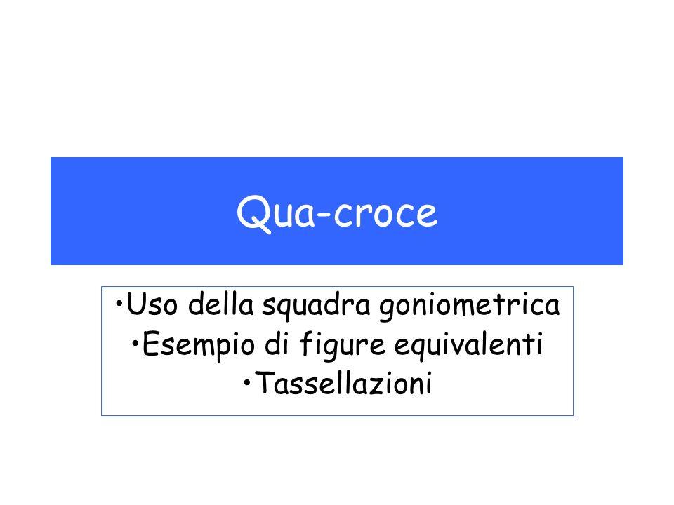 Qua-croce Uso della squadra goniometrica Esempio di figure equivalenti Tassellazioni