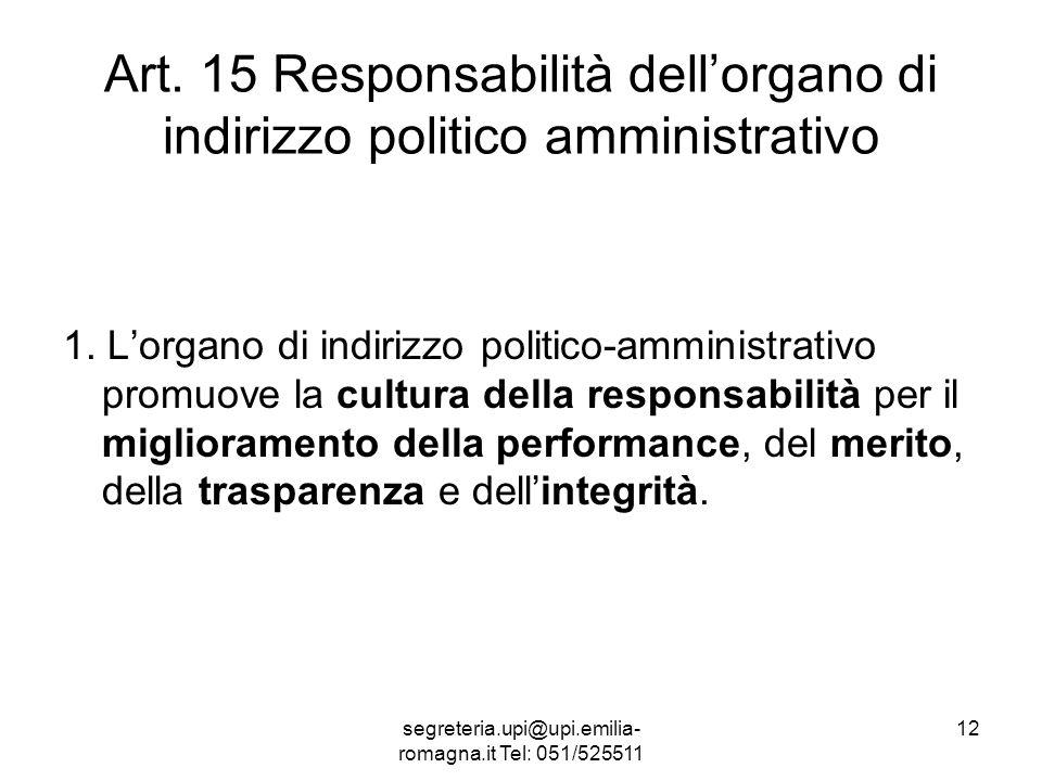 segreteria.upi@upi.emilia- romagna.it Tel: 051/525511 12 Art.
