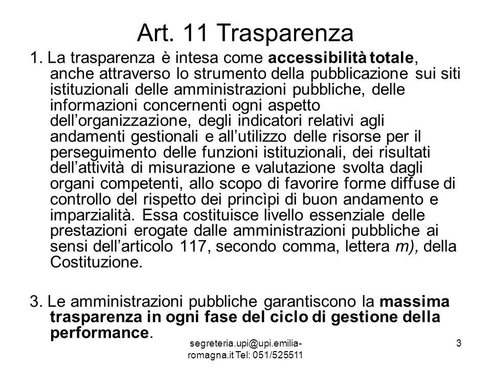 segreteria.upi@upi.emilia- romagna.it Tel: 051/525511 14 Titolo III Art.
