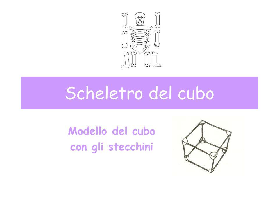 Scheletro del cubo Modello del cubo con gli stecchini