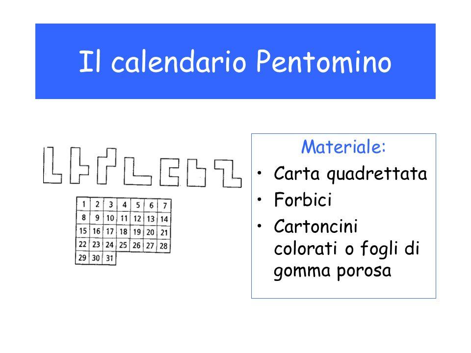 Con 7 diversi pentomini si può coprire la superficie di un calendario in modo che resti visibile solo la data del giorno.