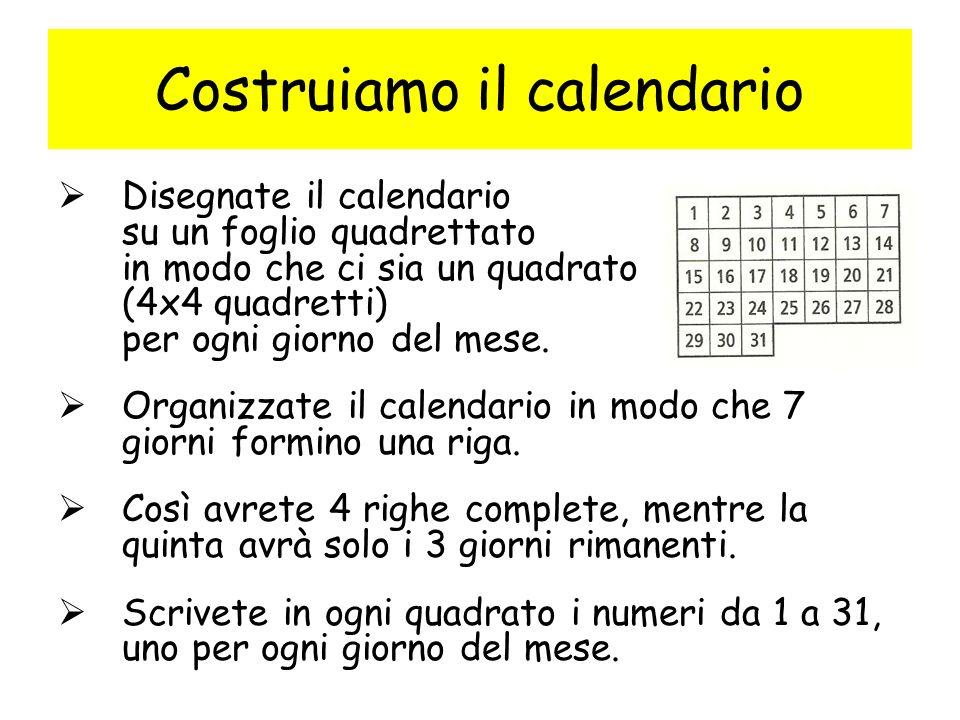 Ora si può cominciare il puzzle: Dovete cercare di coprire con i pentomini tutti i quadrati tranne quello della data del giorno.