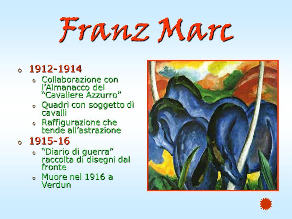 Paul Klee o Pittore svizzero o Munchenbuchsee, Berna nel 1879 o 1898-1901 o Studi a Monaco o 1901-02 o Viaggi in Italia o 1905-06 o Viaggio a Parigi o Acqueforti con soggetti simbolisti o 1911-14 o Partecipa alle mostre del Cavaliere Azzurro o Nel 1914 fonda la Nuova Secessione di Monaco
